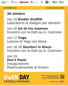 Open Day Castelli Romani 2019